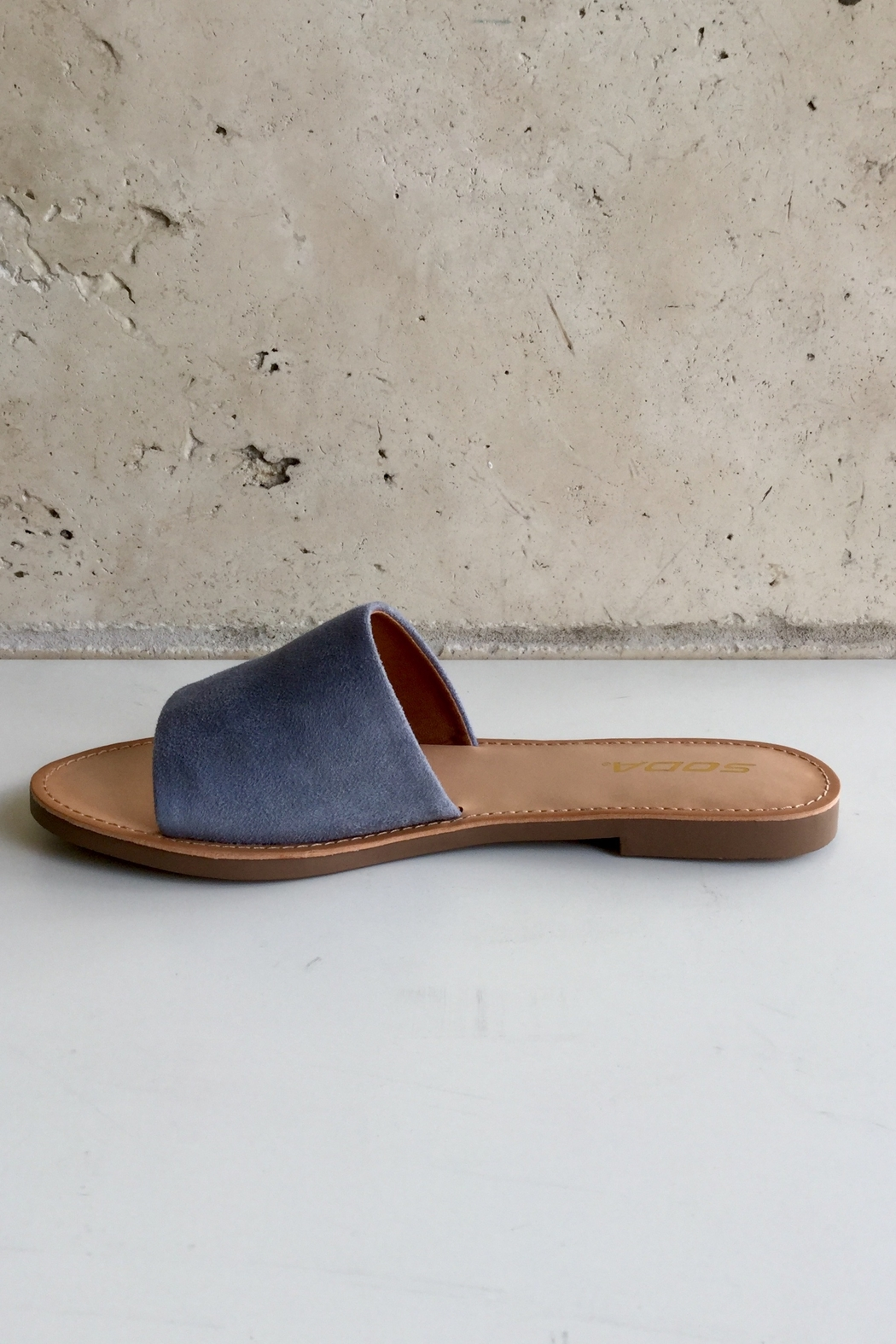 Soda Thick One Band Sandal - Front Full Image