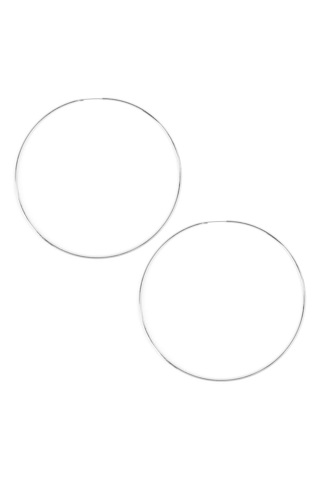 Riah Fashion Thin Endless-Large Loop-Earrings - Front Cropped Image