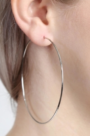 Riah Fashion Thin Endless-Large Loop-Earrings - Front full body