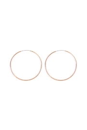Riah Fashion Thin Endless-Small Loop-Earrings - Product Mini Image