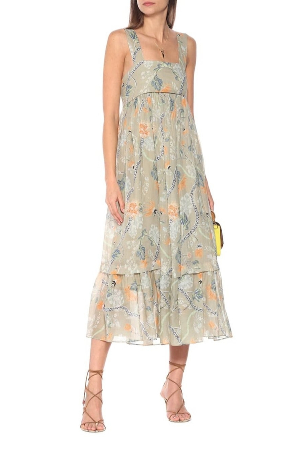 Chloe Thin Strap Low Back Floral Maxi Dress - Front Cropped Image