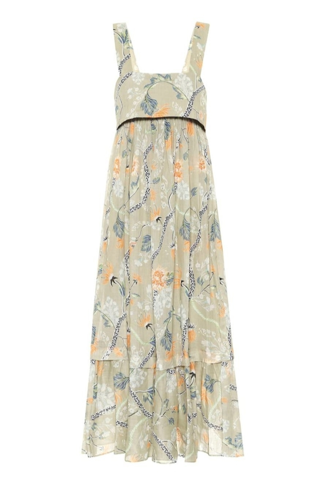 Chloe Thin Strap Low Back Floral Maxi Dress - Side Cropped Image