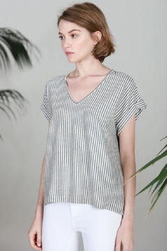 COA Thin Vertical Thin Stripe Top - Product List Image