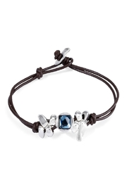 Uno de 50 Thingy Leather Stone Bracelet - Product Mini Image