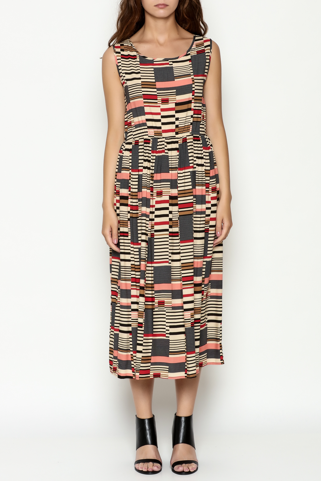 THINK CLOSET Abstract Maxi Dress - Front Full Image