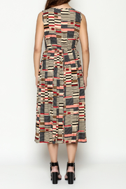 THINK CLOSET Abstract Maxi Dress - Back cropped