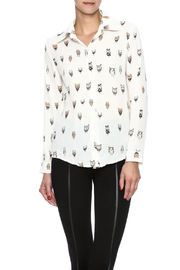 THINK CLOSET Cartoon Owl Tunic - Product Mini Image