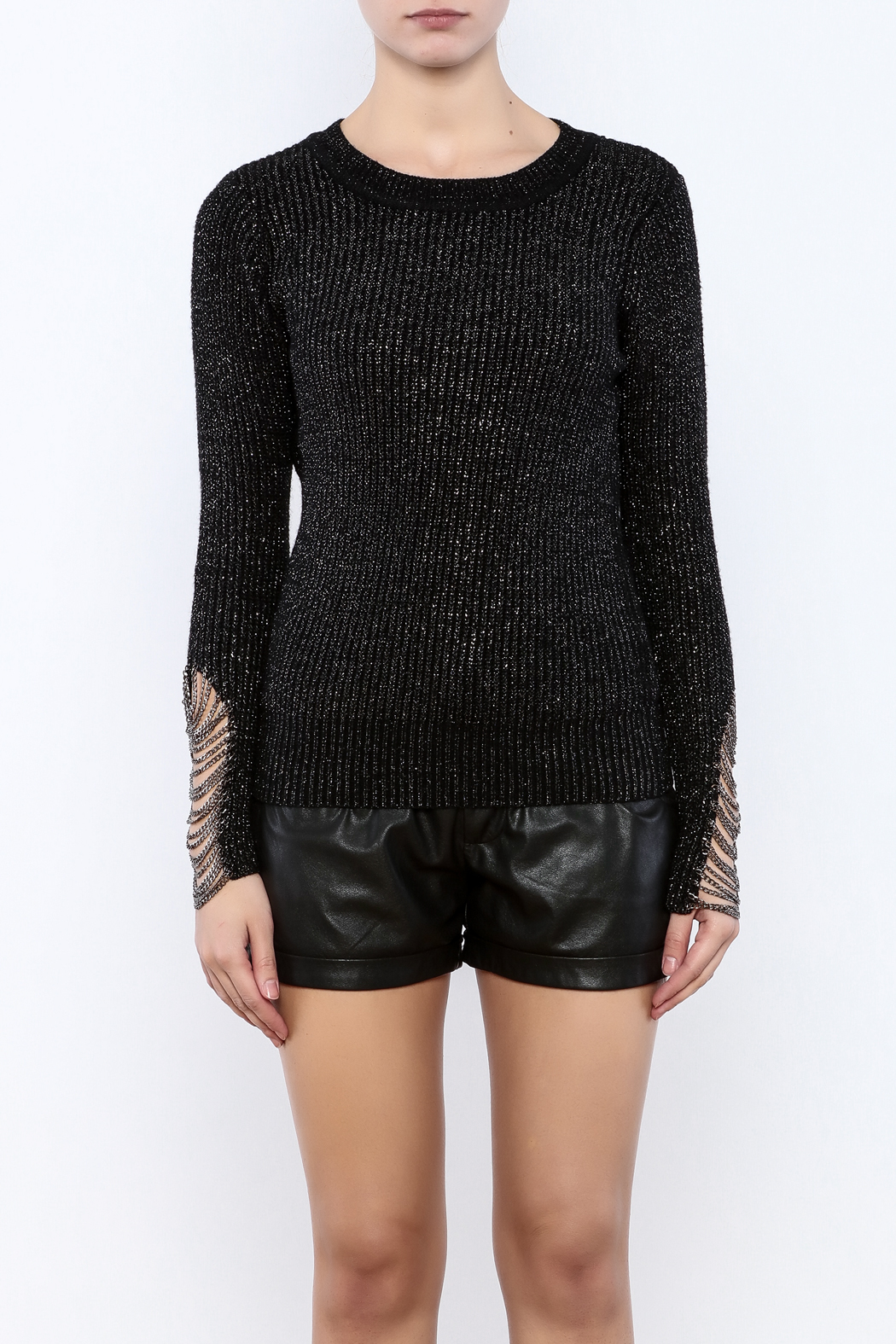 THINK CLOSET Chained Up Sweater - Side Cropped Image