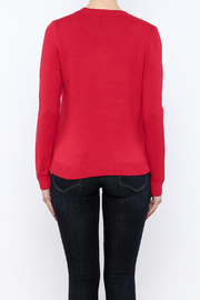 THINK CLOSET Cherry-POM sweater - Back cropped