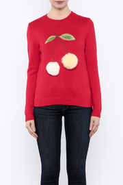 THINK CLOSET Cherry-POM sweater - Side cropped