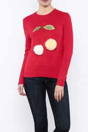 THINK CLOSET Cherry-POM sweater - Front cropped