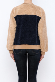 THINK CLOSET Cozy Patched Sweater - Back cropped