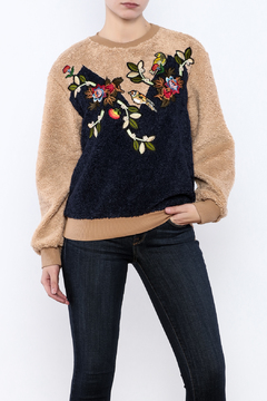 THINK CLOSET Cozy Patched Sweater - Product List Image