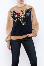 THINK CLOSET Cozy Patched Sweater - Front cropped
