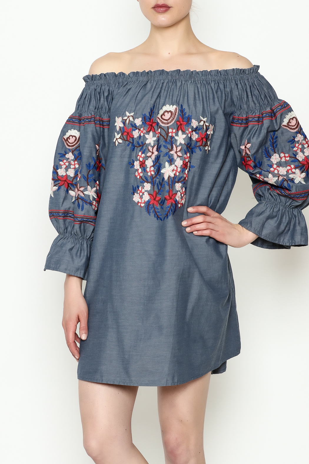 THINK CLOSET Embroidery Dress - Main Image