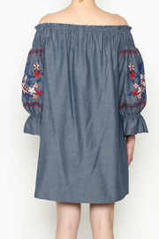 THINK CLOSET Embroidery Dress - Back cropped