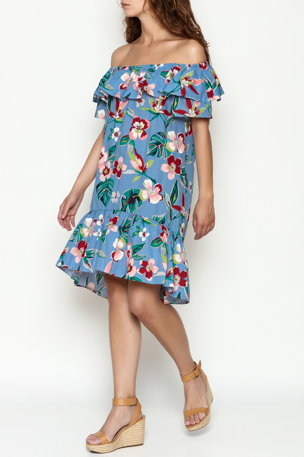 THINK CLOSET Flirty floral dress - Main Image