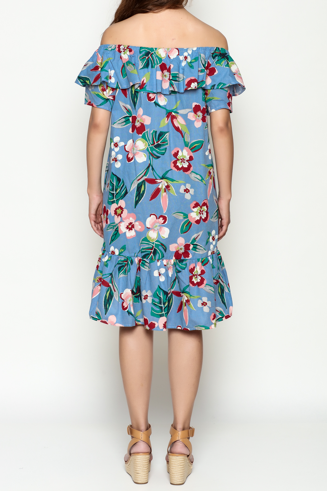 THINK CLOSET Flirty floral dress - Back Cropped Image