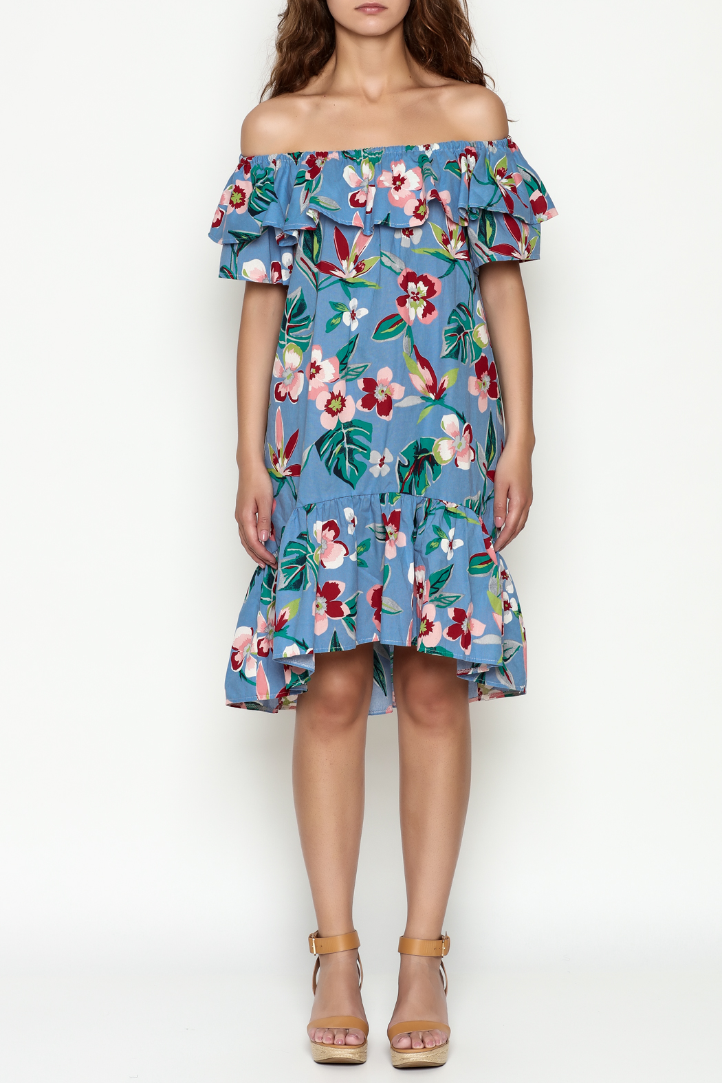THINK CLOSET Flirty floral dress - Front Full Image