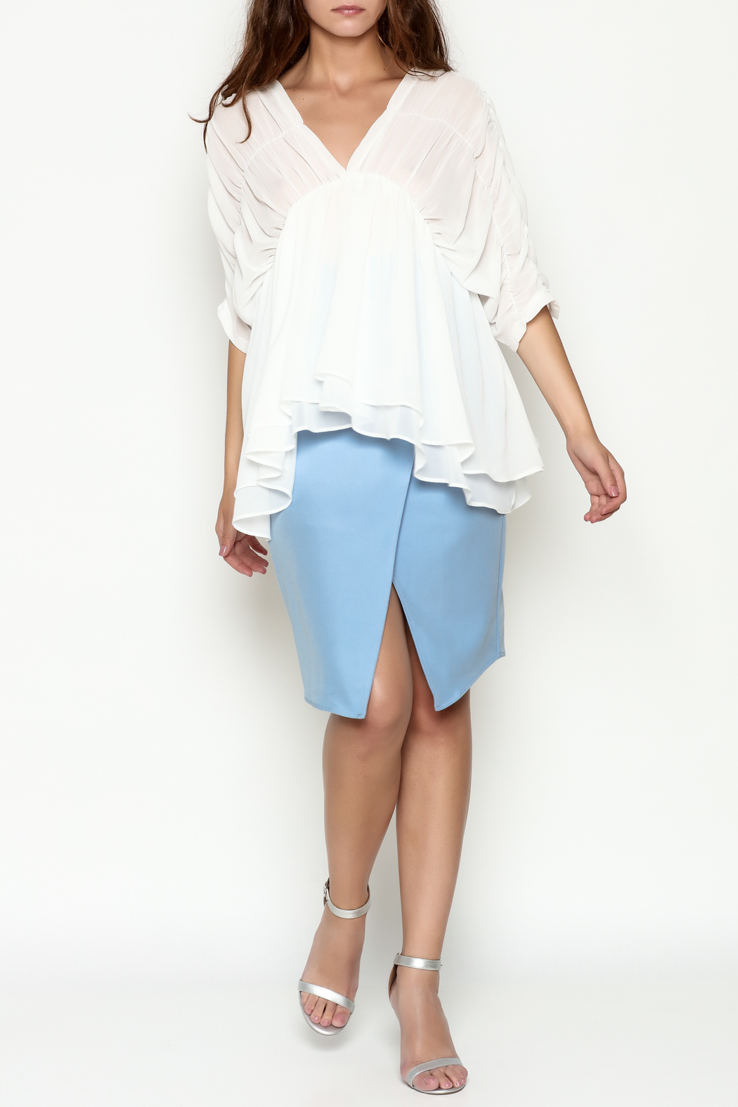 THINK CLOSET Flowy Dream Blouse - Side Cropped Image