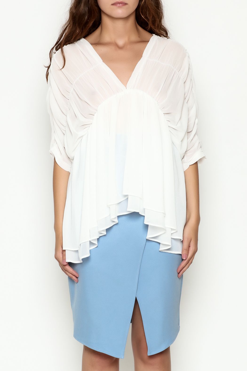 THINK CLOSET Flowy Dream Blouse - Front Full Image
