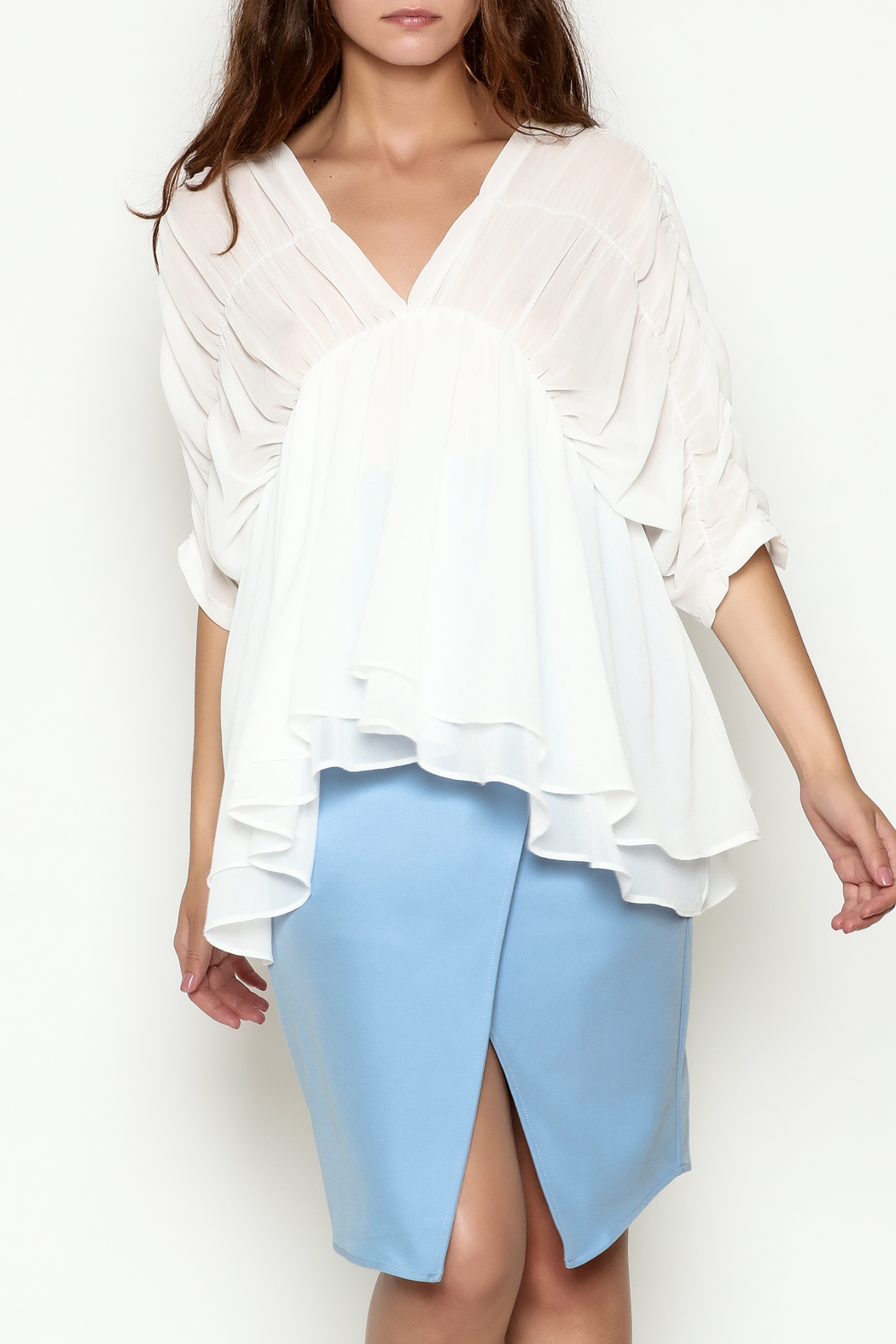 THINK CLOSET Flowy Dream Blouse - Main Image