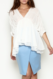 THINK CLOSET Flowy Dream Blouse - Front cropped