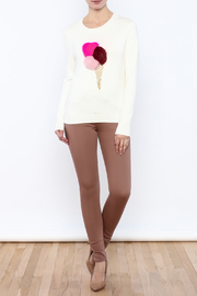 THINK CLOSET Ice Cream-Pom Sweater - Front full body