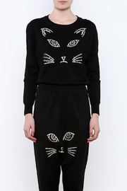 THINK CLOSET Meow-Face Sweater - Side cropped