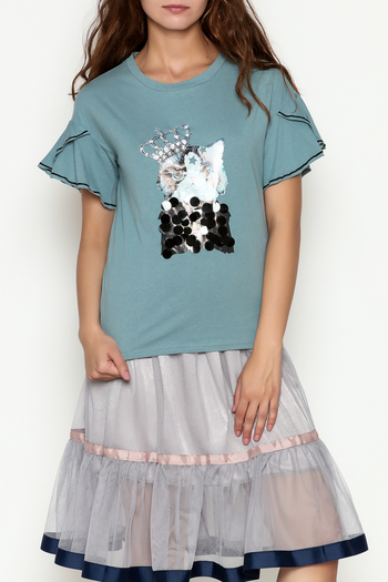 THINK CLOSET Queen Kitty  Top - Main Image