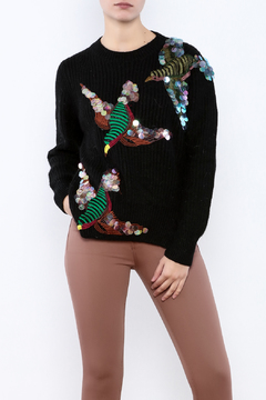 THINK CLOSET Sequined Starling Sweater - Product List Image