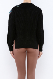 THINK CLOSET Sequined Starling Sweater - Back cropped