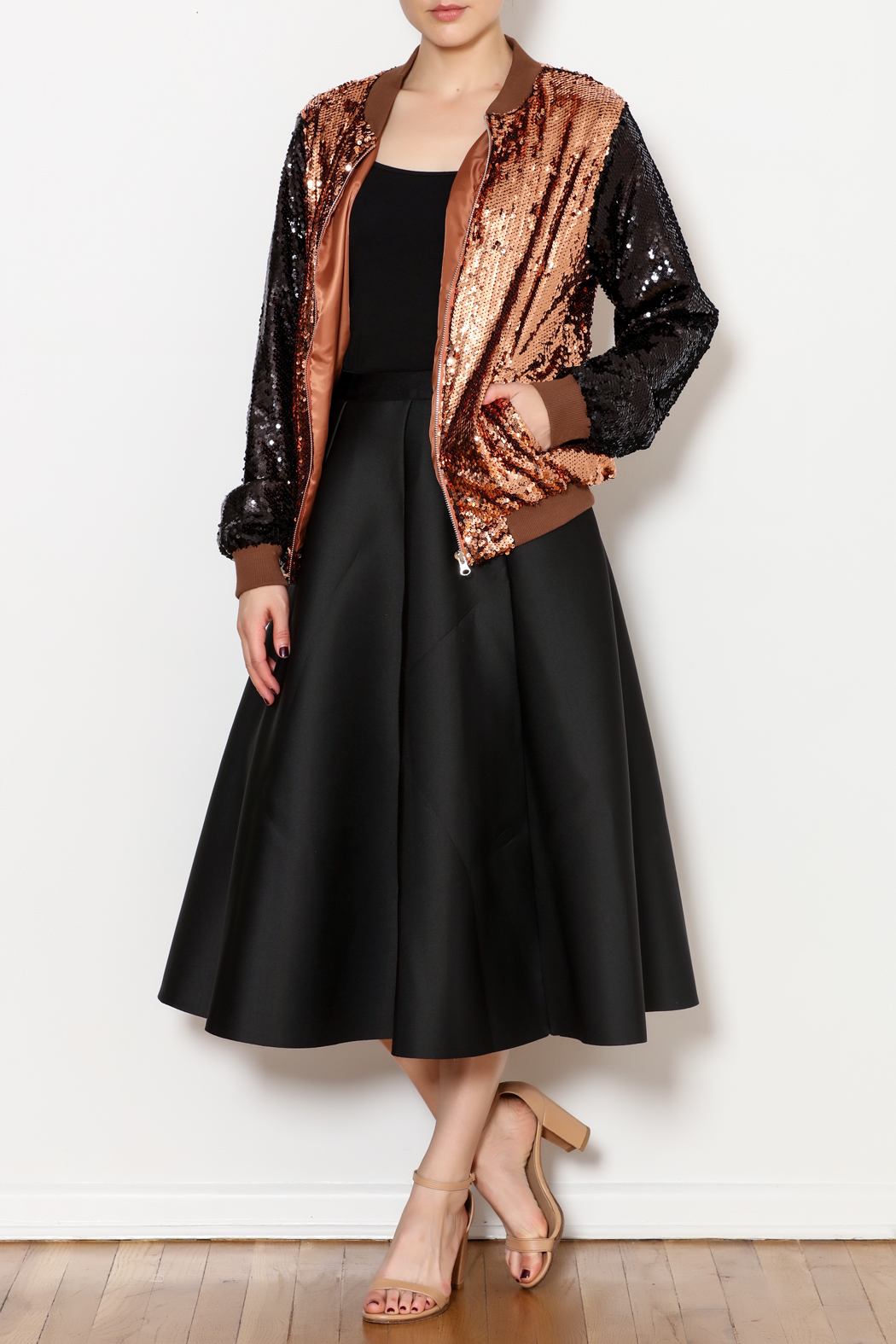 THINK CLOSET Sequined Stunner Jacket - Side Cropped Image