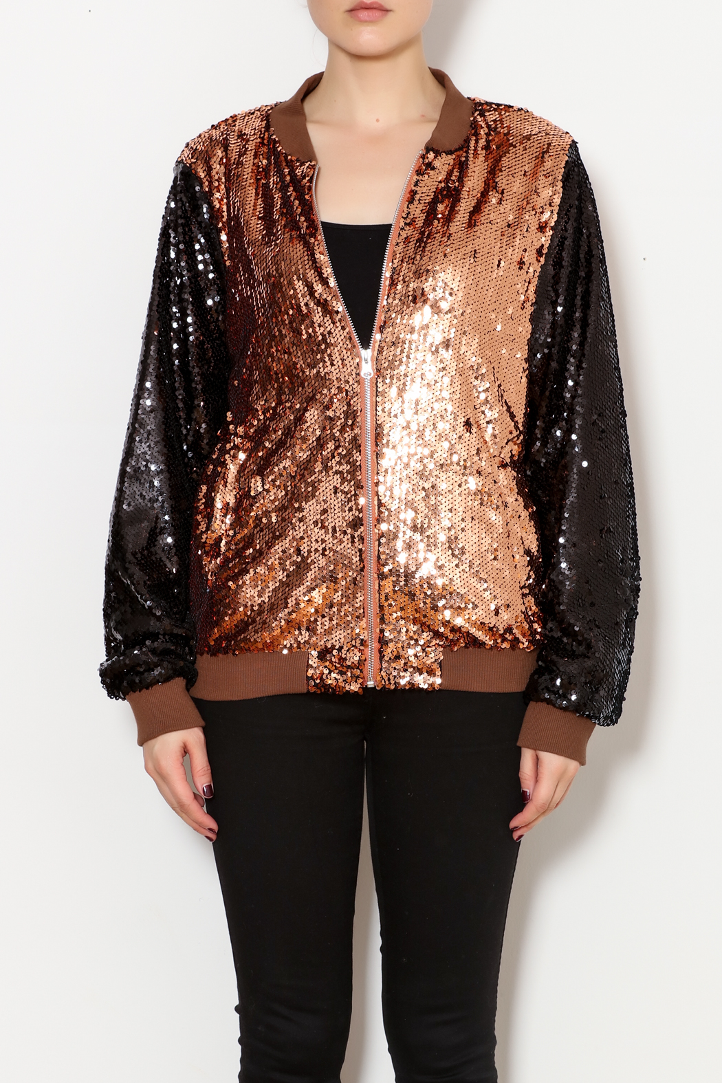 THINK CLOSET Sequined Stunner Jacket - Main Image