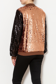 THINK CLOSET Sequined Stunner Jacket - Back cropped