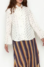 THINK CLOSET Shimmer Blouse - Front cropped