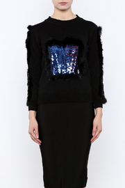 THINK CLOSET Spangled Shapes Sweater - Side cropped