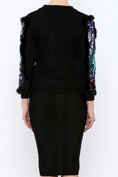 THINK CLOSET Spangled Shapes Sweater - Alternate List Image