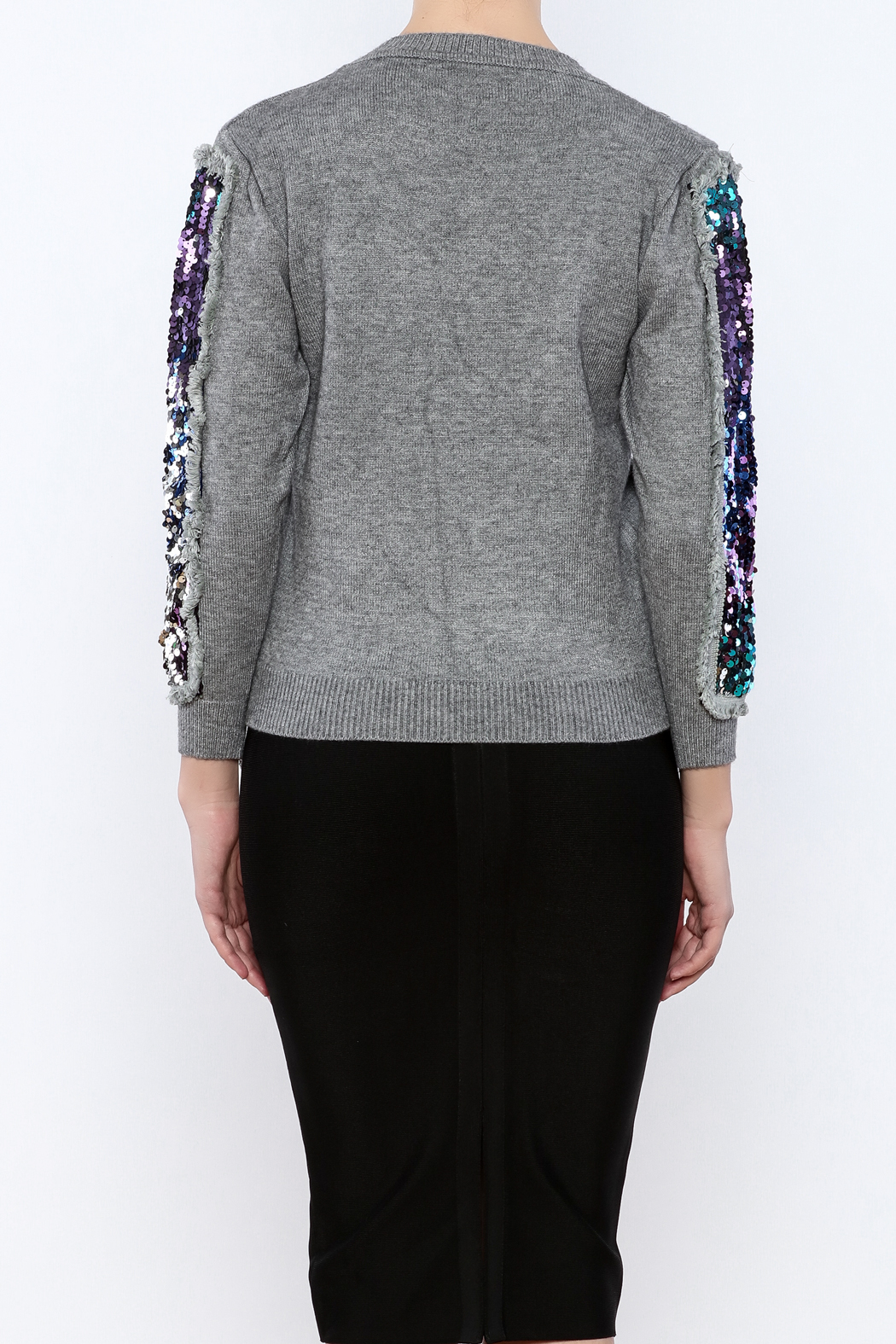 THINK CLOSET Triangle Shapes Sweater - Back Cropped Image