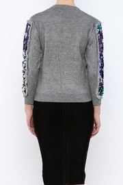 THINK CLOSET Triangle Shapes Sweater - Back cropped