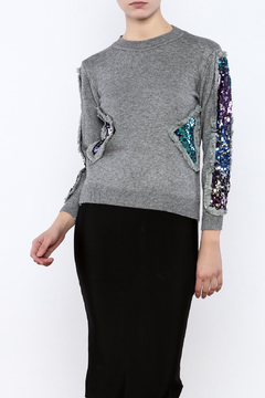 THINK CLOSET Triangle Shapes Sweater - Product List Image