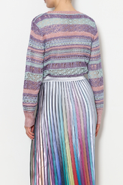 THINK CLOSET Sparkle and Stripes Top - Back cropped
