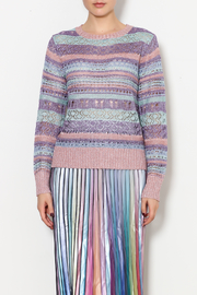THINK CLOSET Sparkle and Stripes Top - Front cropped