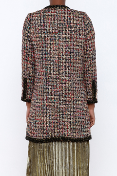 THINK CLOSET Sparkle Tweed Overcoat - Alternate List Image