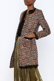 THINK CLOSET Sparkle Tweed Overcoat - Product Mini Image
