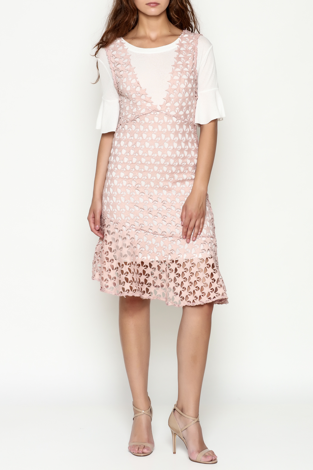 THINK CLOSET Star Lace Dress - Side Cropped Image