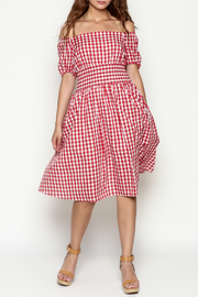 THINK CLOSET Sweet Gingham Dress - Product Mini Image