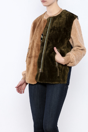 THINK CLOSET Tri-Color Fuzzy Vest - Product Mini Image