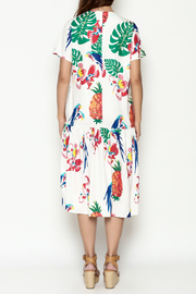 THINK CLOSET Tropical Parrot Dress - Back cropped