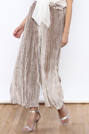 THINK CLOSET Wide Leg Velvet Pants - Product Mini Image